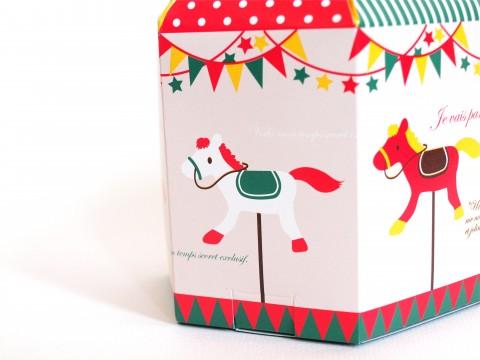 霧笛楼(むてきろう)のメリーゴーランド型パッケージのお菓子