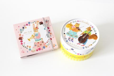 布川愛子さんがイラストを描くフランセのホワイトデー限定パッケージ